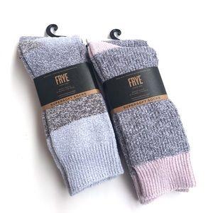 FRYE 2 Packs Supersoft Boot Socks Pink Gray Blue